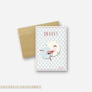 CARTÃO ENVELOPE - Flamingo #1