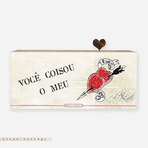 Bloco Vintage - você coisou o meu coração #1