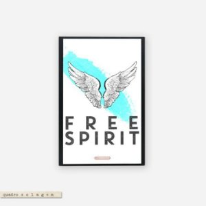 Quadro Colagem Bloco - Free Spirit
