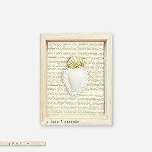 Quadro Caixa Pinus - O Amor É Sagrado