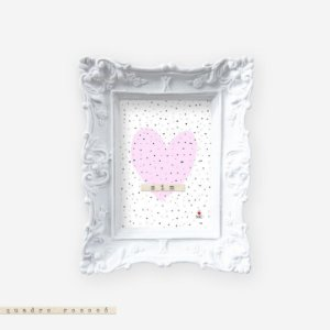 Quadro Rococó - Sim rosa