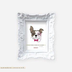 Quadro Rococó - Um cão abana a cauda com o coração