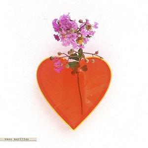Vaso Acrílico - Coração #1 Vermelho