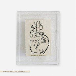 Quadro Caixa Acrílico Imã + Pinus - Mão Universo Interno