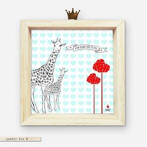 Quadro Box M - Girafas - Vim pra ser feliz