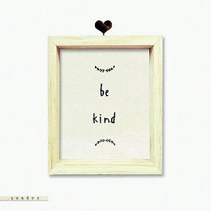 Quadro Caixa Bordado - Be Kind
