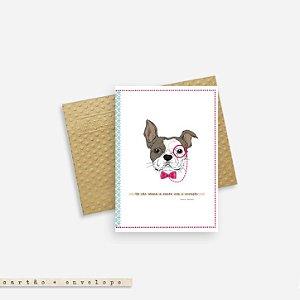 CARTÃO ENVELOPE - Um cão abana a cauda