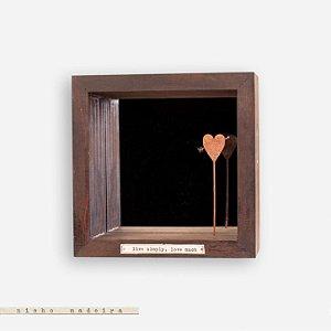 Nicho espelhado #1 - CORAÇÃO FLECHADO - LIVE SIMPLY