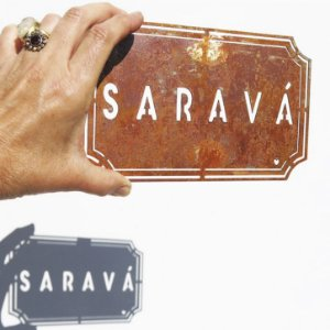 Placa Etiqueta de Ferro - Saravá