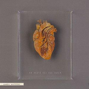 Quadro Caixa Acrilíco com Coração de ferro - Eu Gosto Dos Que Ardem