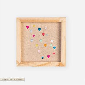 Quadro Box M Bordado - Love Love