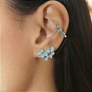 Brinco Ear Cuff Flores