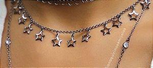Choker Estrelas Vazadas