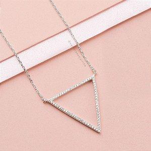 Colar Triângulo Cravejado