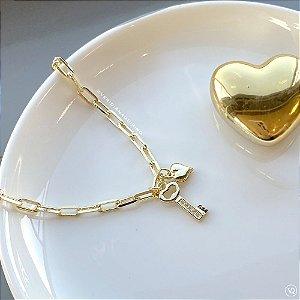 Pulseira Cartier Chave e Coração
