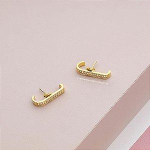 Ear Hook Cravejado Médio