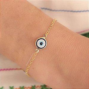 Pulseira de olho grego - Banho de Ouro