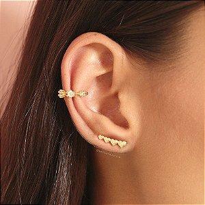 Ear Cuff Corações