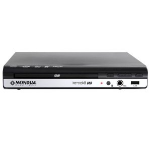 Aparelho DVD Player Mondial USB MP3 Karaok Ripping Preto [D-15]