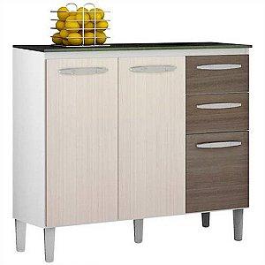 Balcão p/ Cozinha c/ Tampo 90cm - Poquema Isadora