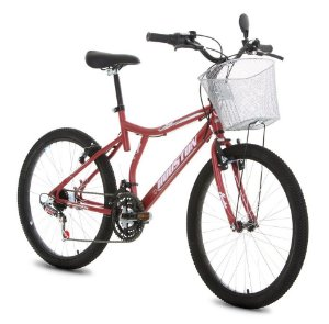 Bicicleta Aro 24 Bristol Peak Vermelha C/ Cesta- Houston [BRN242QVMQ]
