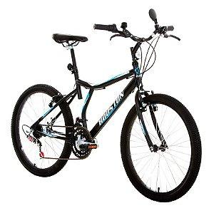 Bicicleta Atlantis Land Preta Fosca, Aro 24, 21 Marchas, Freio V-Brake - Houston
