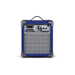 Caixa Amplificada Frahm USB Bluetooth Cartão Memória Azul Bivolt [LC250APP]