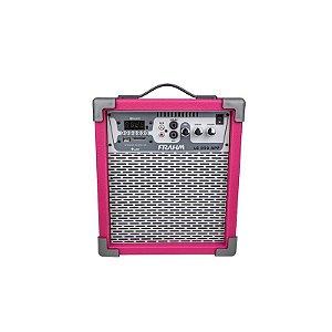 Caixa Amplificada Multiuso 60W Frahm USB FM Bluetooth Cartão Memória Pink Bivolt [LC250 PK]