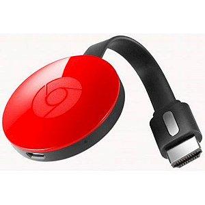 Chromecast TV Smart Box Google vermelho