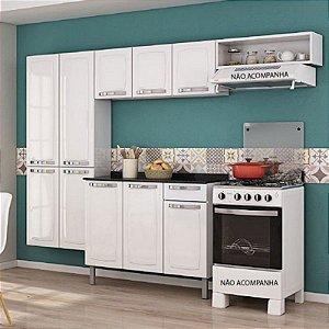 Cozinha Itatiaia Rose Branco Amplo Espaço Interno