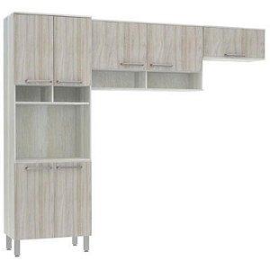 Cozinha Luciane Samia 7 Portas Prateleira Espaço Para Micro-Ondas