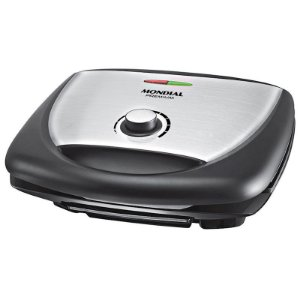 Grill Mondial Super Premium Chapas Duplas e Antiaderentes com Controle de Temperatura 127 Volts Preto/Inox [G09 PT/INOX]