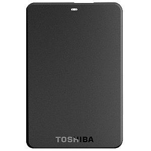 HD Externo Portátil Toshiba 1TB Canvio Basics Preto USB 3.0 Preto [HDTB310XK3AA]