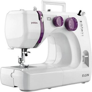 Máquina de Costura Elgin Prátika 9 Pontos 127 Volts Branco [JX-2051]