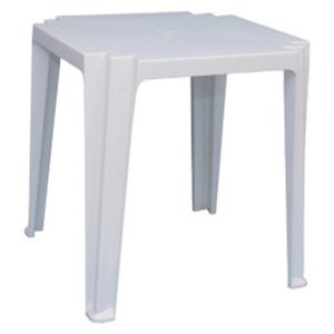 Mesa Plástica Quadrada Rossets Tambaqui Branca [3333 BR]