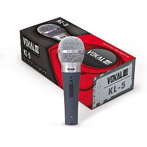 Microfone Dinâmico Vokal Com Fio Cabo P10 x XLR [KL5]