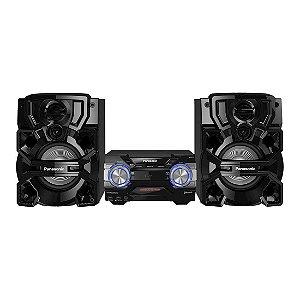 Mini System Panasonic 1800W CD CD-R e CD-RW Bluetooth USB Aplicativo Max Juke Preto [SC-AKX700LBK]