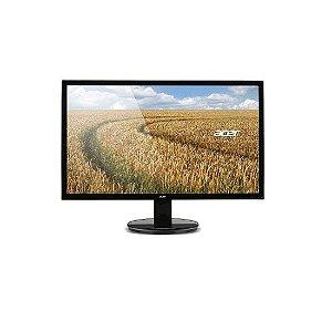 "Monitor Acer Tela 21,5"" Full HD 60hz VGA DVI Preto [K222HQL]"