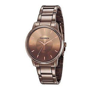 Relógio Chocolate Feminino Mondaine