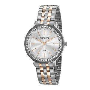 Relógio Feminino Mondaine Bicolor Prata/Dourado