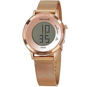 Relógio Feminino Seculus Digital Aço Rose Gold 77046Lpsvrs2