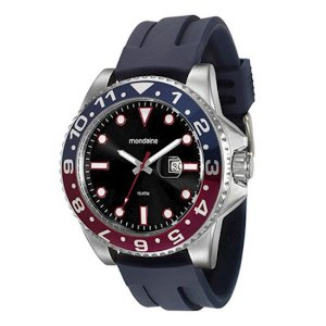 Relógio Masculino Mondaine Analógico c/calendário Resistente  Água na Cor Azul [94785G0MVNU1]