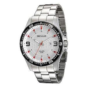 Relógio Masculino Seculus Long Life Analógico Resistente  Água Prata [28763G0SVNA1]
