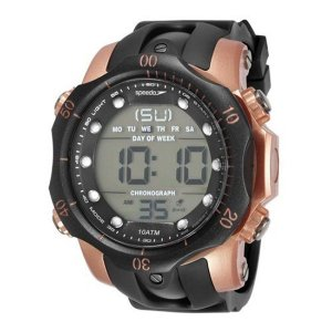 Relógio Masculino Speedo 54mm Borracha Preto