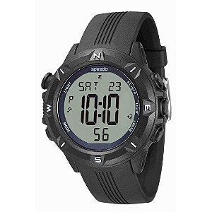 Relógio Masculino Speedo Digital + Monitor Cardíaco Poliuretano PU Preto [58009G0EVNP1]