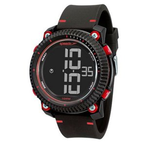 Relógio Masculino Speedo Digital Preto e Vermelho