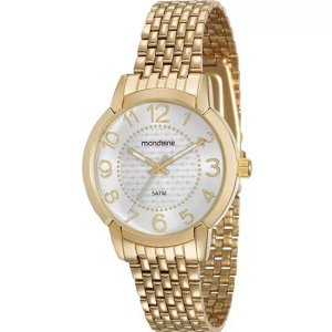 Relógio Mondaine Feminino Clássico Dourado