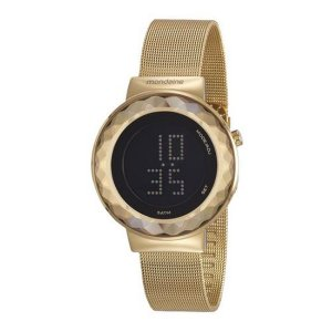 Relógio Mondaine Feminino Dourado Digital