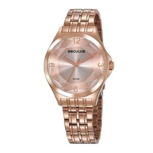 Relógio Seculus Feminino Ref: 23602lpsvrs4 Fashion Rosé