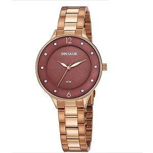 Relógio Seculus Feminino Ref: 77048lpsvrs2 Fashion Rosé